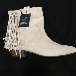 ZARA Fringed Ankle Booties 🌟NWT🌟